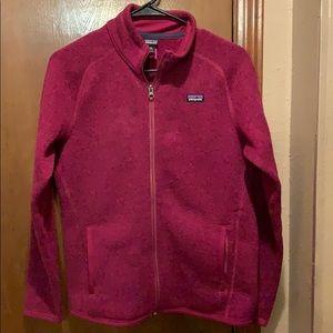 Girls Patagonia zip up jacket